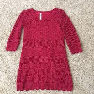 Full sleeves dark red/burgundy dress